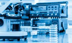 Physical chemistry laboratory equipment - stock photo