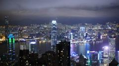 Awesome TL of Hong Kong at night 4K Stock Footage