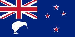 New Zealand Flag With Kiwi Piirros