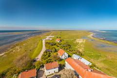 Aerial view of South Oland in Sweden Stock Photos