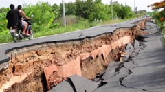 Stock Video Footage of THAILAND DROUGHT ROAD COLLAPSE DROUGHT