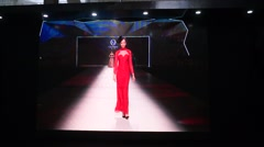 China traditional clothing and fashion catwalk shows Stock Footage