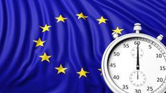 Stock Illustration of Flag of European Union with chronometer