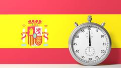 Stock Illustration of Flag of Spain with chronometer