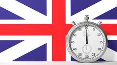 Flag of United Kingdom with chronometer - stock illustration