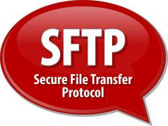 SFTP acronym definition speech bubble illustration - stock illustration