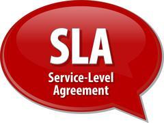 Stock Illustration of SLA acronym definition speech bubble illustration
