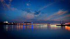Saint-Petersburg. White nights bridge on the Neva Stock Footage