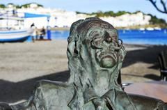 monument to Salvador Dali in Cadaques, Spain - stock photo