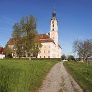 Pilgrimage church of Birnau Abbey in spring, Lake Constance, Baden-Wurttemberg, Stock Photos