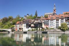 Laufenburg, Heilig Geist Kirche Church, Rhine River, Hochrhein, Black Forest, - stock photo