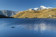 Stock Photo of Sunrise and reflections on Aiguille Rousse, Gran Paradiso National Park, Alpi