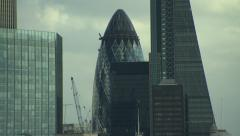 LONDON CITY - TILT THE SHARD AND THE GHERKIN 1080p - stock footage