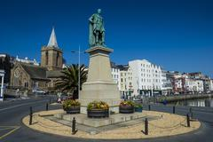 Prince Albert statue, Saint Peter Port, Guernsey, Channel Islands, United Stock Photos