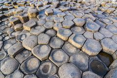 The Giants Causeway, UNESCO World Heritage Site, County Antrim, Ulster, Northern Stock Photos