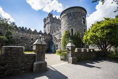 Glenveagh castle in the Glenveagh National Park, County Donegal, Ulster, Stock Photos