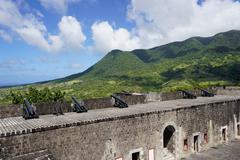 Brimstone Hill Fortress, UNESCO World Heritage Site, St. Kitts, St. Kitts and - stock photo