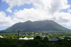 Stock Photo of Mount Nevis, Nevis, St. Kitts and Nevis, Leeward Islands, West Indies,
