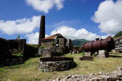 Stock Photo of Derelict old sugar mill, Nevis, St. Kitts and Nevis, Leeward Islands, West