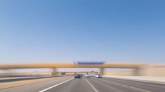 summer day dubai to abu dhabi road trip 4k time lapse uae - stock footage