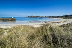 Braye Bay, Alderney, Channel Islands, United Kingdom, Europe - stock photo
