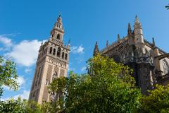 Sevilla Cathedral and Giralda, UNESCO World Heritage Site, Seville, Andalucia, - stock photo