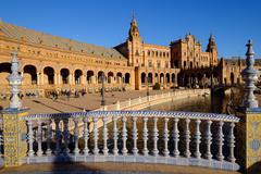 Plaza de Espana, built for the Ibero-American Exposition of 1929, Seville, - stock photo