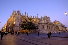 Stock Photo of Seville Cathedral, UNESCO World Heritage Site, Seville, Andalucia, Spain, Europe
