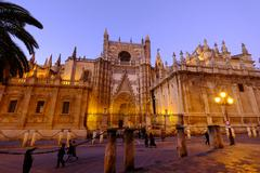 Seville Cathedral, UNESCO World Heritage Site, Seville, Andalucia, Spain, Europe - stock photo