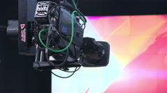 Studio camera during a live broadcast on TV. - stock footage