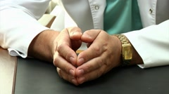 Close up of medical doctor's hands. - stock footage
