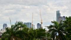 Building Under Construction in Bangkok, Thailand - stock footage