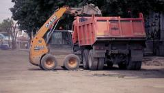 Construction equipment,heavy machinery Stock Footage