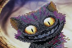 Abstract Cheshire cat - stock photo