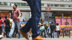 Busy Hong Kong shoppers 4K Stock Footage