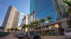 Miami summer day downtown business block 4k time lapse florida usa Stock Footage