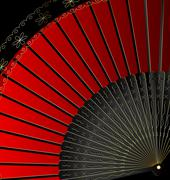 Image of red fan Stock Illustration