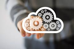 Button engineering cloud business web icon communication Stock Photos