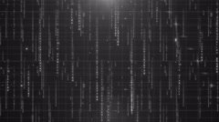 Colorless digital data background 4K (More than 35 )  Stock Footage