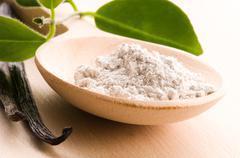 Vanilla beans with aromatic sugar Stock Photos