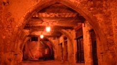 Cavern under Villefranche sur Mer, France - stock footage
