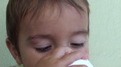 Stock Video Footage of Toddler with a bump on his eyebrow 2
