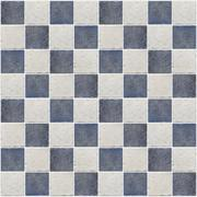 small square tiles of blue and gray color - stock photo