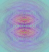 Seamless pattern turquoise violet Stock Illustration