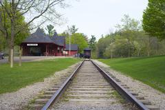 DUNDAS,CANADA-May 9,2015: Dundas Conservation area Trail Centre, a victorian - stock photo