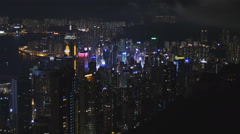 Neon colors of Hong Kong skyscrapers 4K Stock Footage