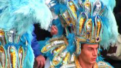 Colorful Costumes, Menton Lemon Festival,Carnival, France - stock footage