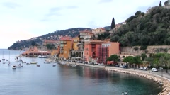 Villefranche sur Mer port, France Stock Footage