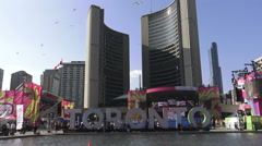 PANAMANIA Celebration at Nathan Phillips Square, Toronto Stock Footage