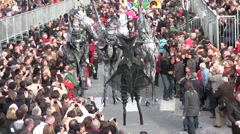 Space creatures, Menton Lemon Festival, France - stock footage